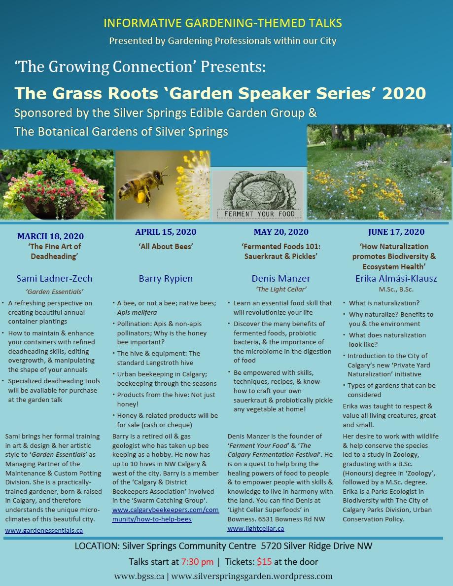 2020 Garden Speaker Series